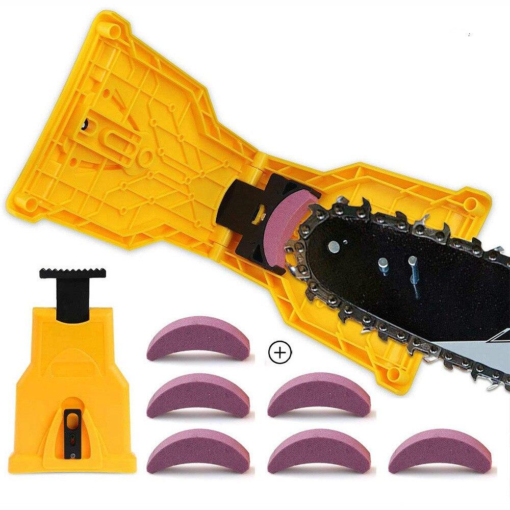 Sharpens Saw Chain Sharpening Tool Easy Durable Sharp Fast Grinding Bar-Mount Chainsaw Teeth Sharpener