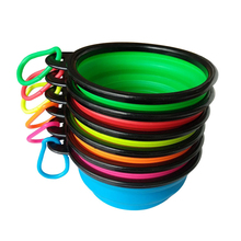 Folding Pet Bowl Silicone Travel Dog Bowls Portable Bowl For Pet Eating Dishes
