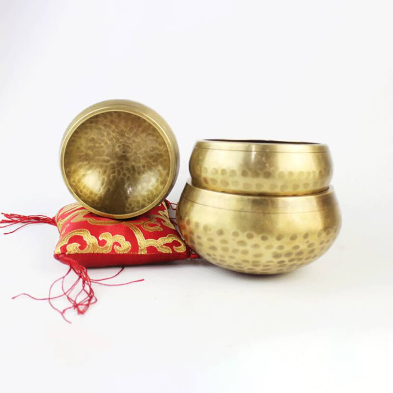 Handmade Nepal Tibetan Singing Bowl Set Resonance Healing Meditation Yoga Bowl With Hibiscus Decorative Wall Home Decor