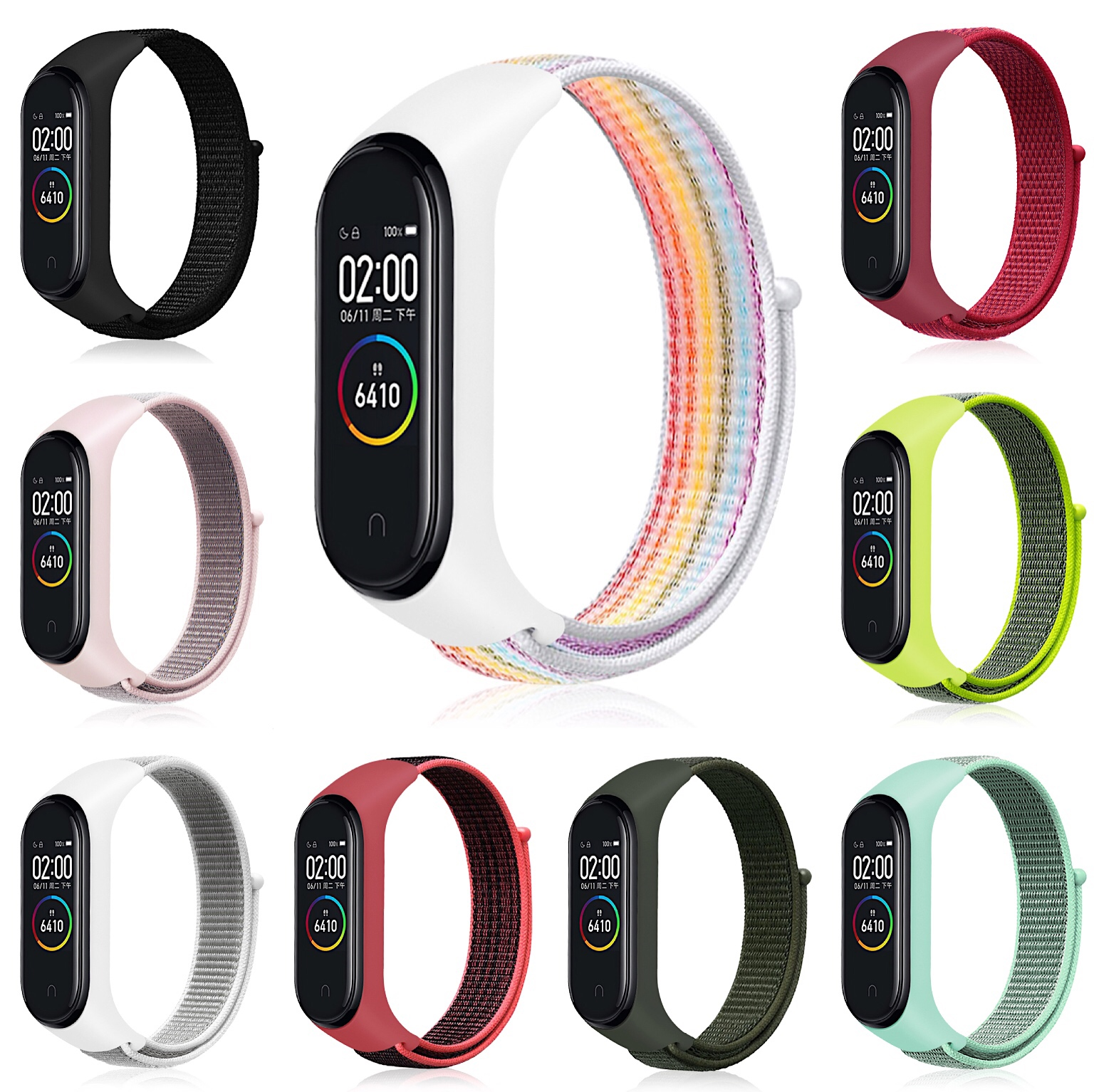 Nylon Loop Replaceable Bracelet For Xiaomi Mi Band 3 Sports Wristband Breathable Strap For Xiaomi Miband 4 Smart Watch Accessori