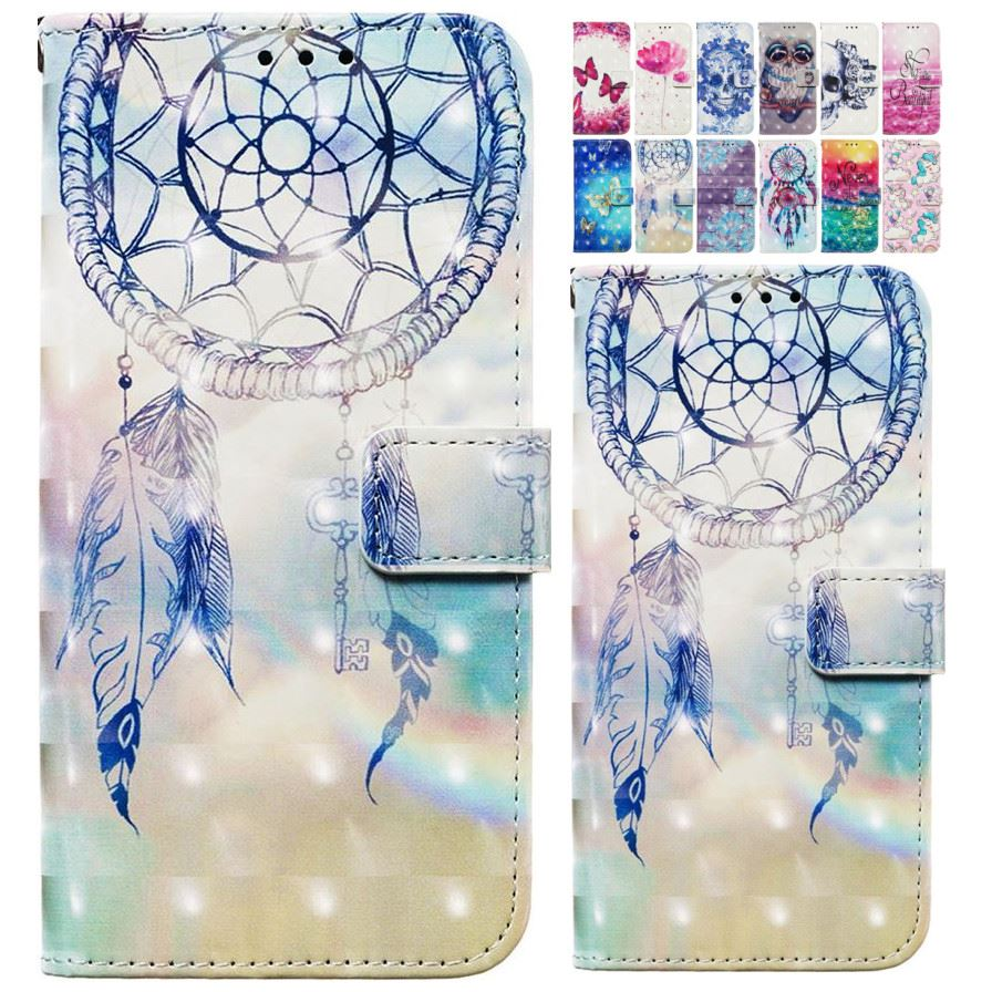 Feather Chimes <font><b>Leather</b></font> <font><b>Flip</b></font> Wallet <font><b>Case</b></font> For Coque apple <font><b>iPhone</b></font> 6 6S <font><b>7</b></font> 8 Plus Cute Dreamcatcher <font><b>Flip</b></font> Phone Capa Book Cover E03E image