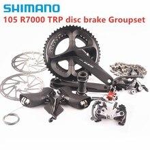 SHIMANO 105 R7000 2X11 سرعة TRP القرص Brak مجموعات الطريق دراجة دراجة 170 172.5 مللي متر TRP الميكانيكية falt جبل أو آخر جبل القرص