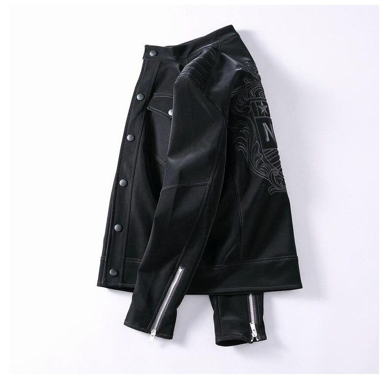 Мужская верхняя одежда зимняя модная мужская одежда Брендовые мужские куртки и пальто 5XL дизайнерские Куртки из искусственной кожи в стиле ... - 3