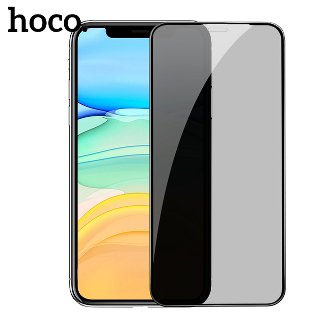 HOCO 3D Privacy Tempered Glass for iPhone X XR 11 Pro Max XS Max Xs Screen Protector Full Cover 0.25mm Protective Glass 5.8 6.5