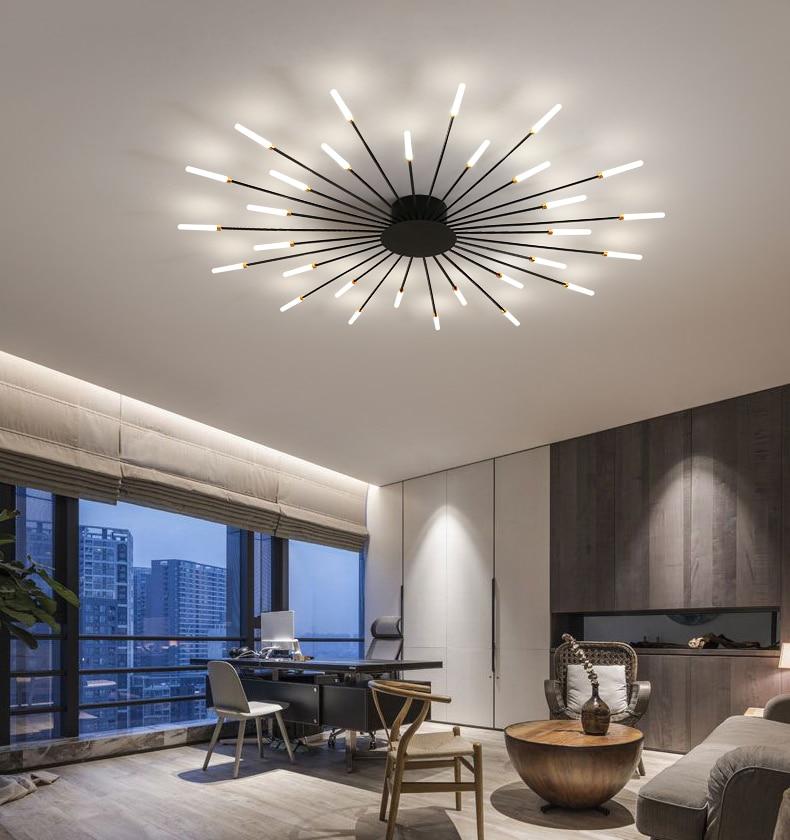 Nordic modern minimalist creative fireworks LED ceiling lamp living room bedroom chandelier home lighting