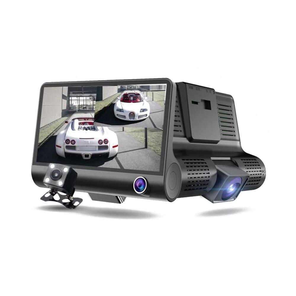 Full HD 1080P Dual Lens Car DVR Camera 4.0 inch LCD with Rearview Camera Video Recorder Auto Registrator Dvrs Dash Camera