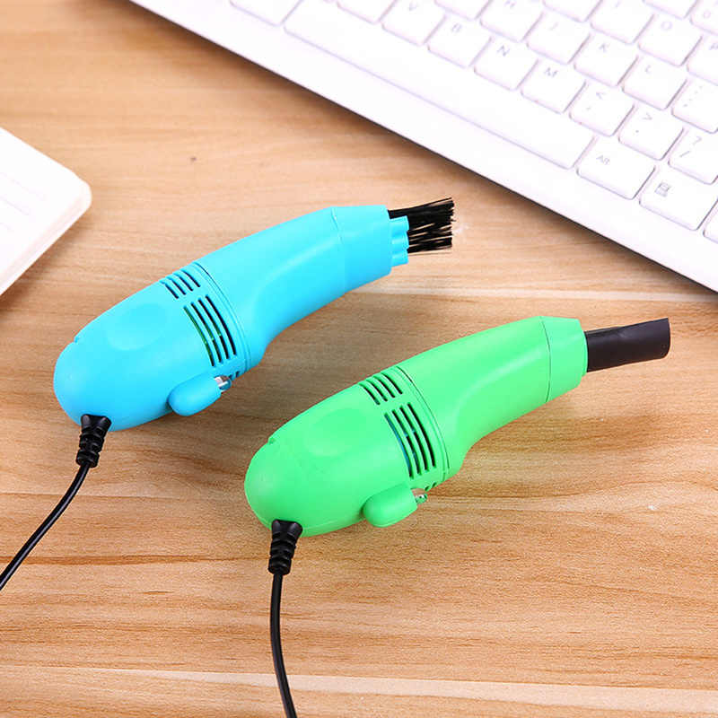 Appearantes Mini Computer Vacuum USB Keyboard Cleaner PC Laptop Brush Dust Cleaning tool black