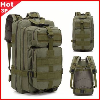 цена на Hot Sale Men Outdoor Military Army 3p Tactical Backpack Molle Camping Hiking Trekking Sport Camouflage Backpack