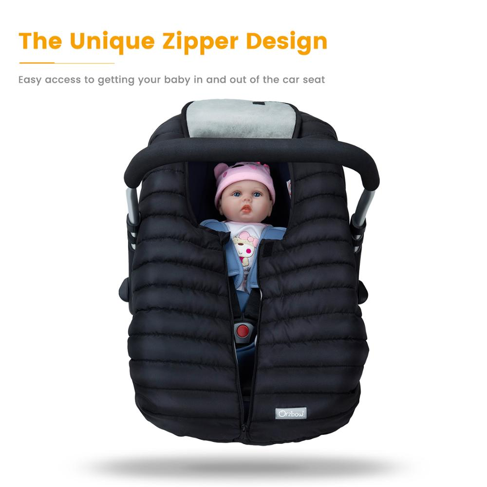Orzbow Baby Basket Car Seat Cover Warm Newborn Infant Carrier Cover Waterproof Baby Car Seat Envelope Newborn Footmuff in Travel 4