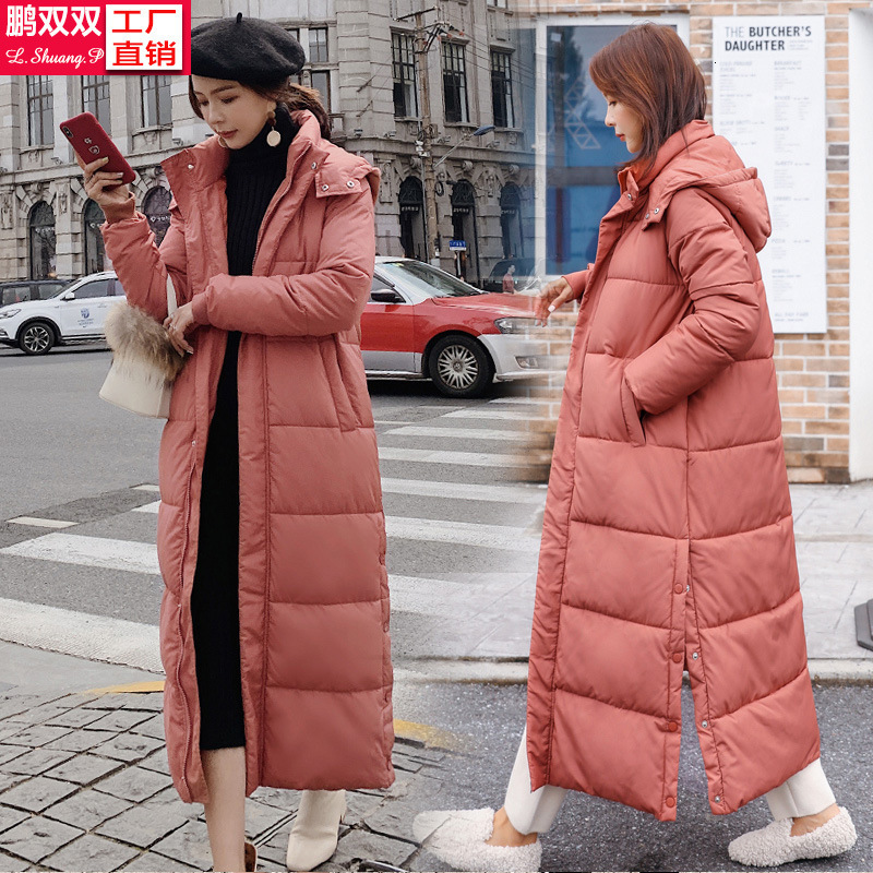Cotton Woman Ins Long Fund Cotton-padded Jacket 2019 Back Season Cotton-padded Clothes Schoolgirl Winter Loose Coat