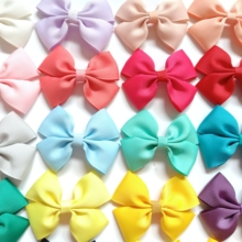4PCS girls children hair clip  ribbon bows hairclips kids hairpin accessories women headwear pins Barrettes bowknot