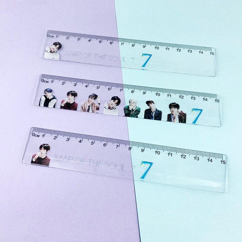 KPOP Bangtan Boys New Album Map Of The Soul 7 Printing JUNG KOOK JIMIN JIN SUGA J-HOPE Rulers Stationery JH15