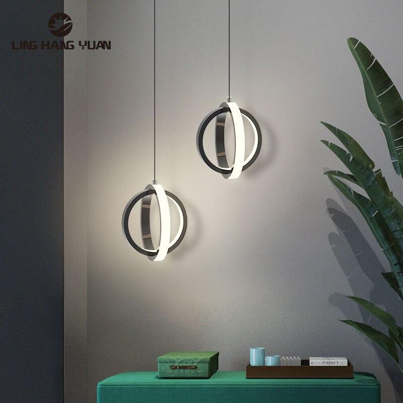Moderne Led Anhänger Licht 12W Schwarz Weiß Anhänger Lampe Für Foyer wohnzimmer Schlafzimmer Nacht Leuchten esszimmer Beleuchtung leuchten