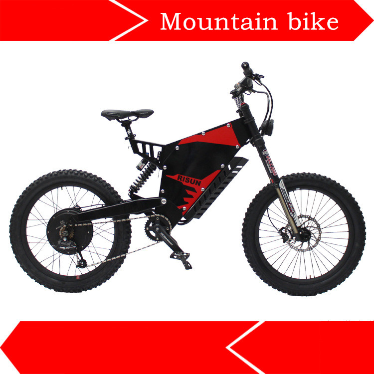 72V 1500W  Stealth Bomber Front And Rear Shock Absorbing Soft Tail All Terrain Electric Mountain Bike