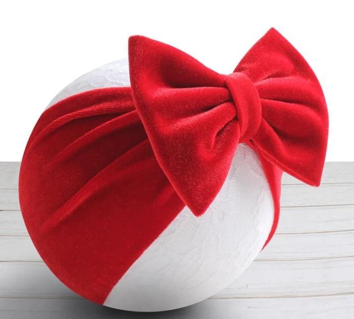 infant head wrap glitter headband 1st birthday Baby headbands velvet bow headband black velvet flower girl baby bows red bow