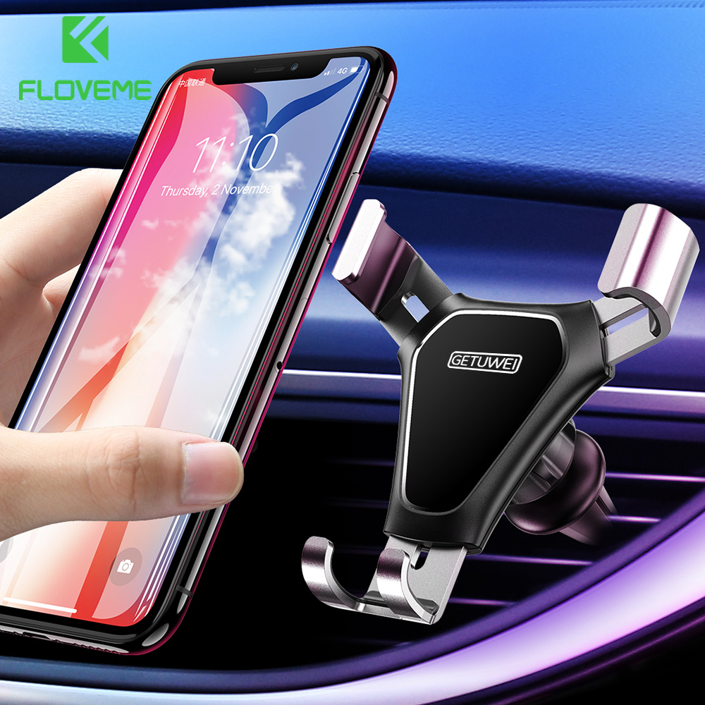 FLOVEME Gravity Car Phone Holder Air Vent Mount Universal Mobile Smartphone Holder For Phone In Car Support For Samsung S10 S9