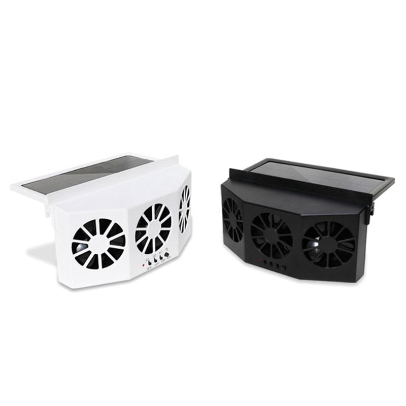 Solar Powered Vehicle Exhaust Fan Solar Energy Cooling Car Vent Ventilator Safe Auto