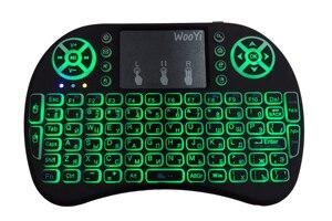 Image 4 - 7 farbe hintergrundbeleuchtung Mini i8 Drahtlose Tastatur air mouse 2,4 GHz Russischen buchstaben Fernbedienung Touchpad Für Android TV Box notebook