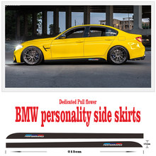 For BMW E90 E92 E93 F10 E39 E46 E30 F30 F20 X1 M Performance Auto Door waistline side skirt Car Door Sill Stickers Accesslries
