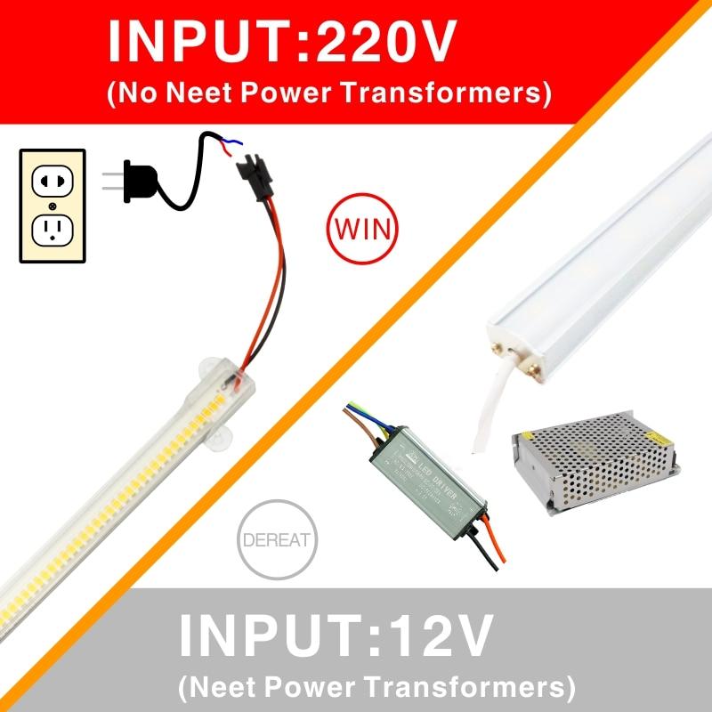 LED Kitchen Light LED Bar Light 7W 30cm 50cm Clear Shell Milky White Shell White Warm White Day White 220V For Kitchen Lighting 5