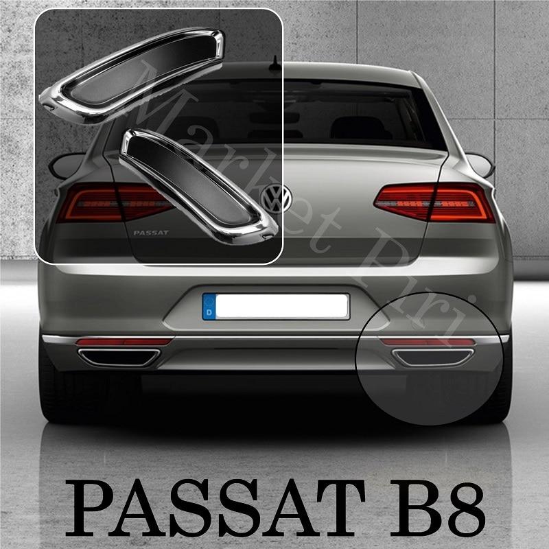 Рамка диффузора выхлопных газов Passat B8 из нержавеющей стали VW 2015 2019 автомобильные аксессуары задняя R Line Спортивная Настройка Highline TSU FSU TDI
