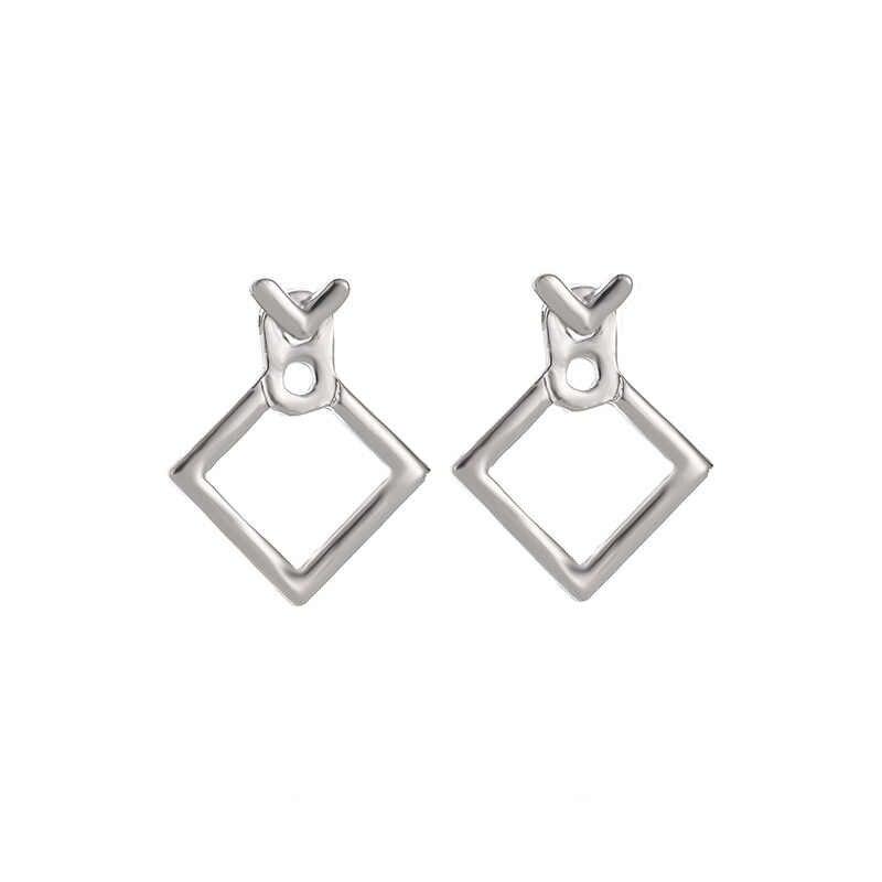حار بيع العصرية لطيف النيكل الحرة أقراط مجوهرات الأزياء 2019 الأقراط مربع أقراط للنساء Brincos Brinco Oorbellen