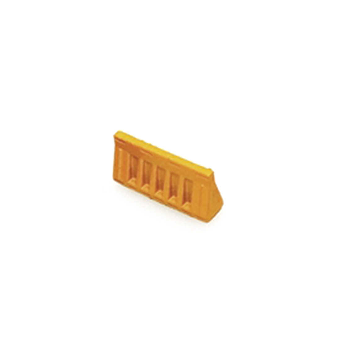 1:87 HO Scale Simulation Highway Guardrail Sand Table Train Model Scene Station Highway Ornament - Yellow/Red