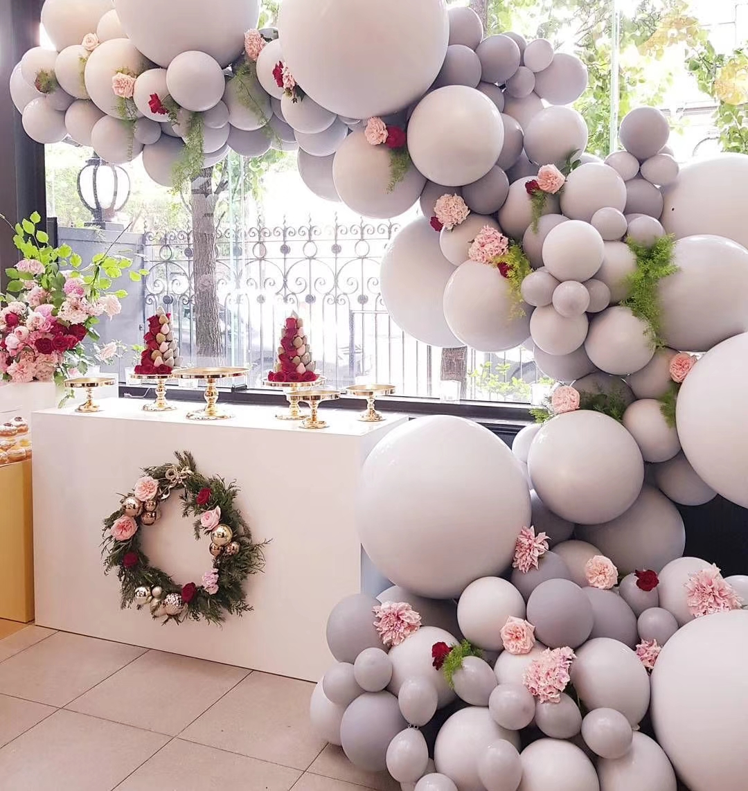 Giant White Round Balloons 18//36 inch Wedding Arch Garland Backdrop Photography