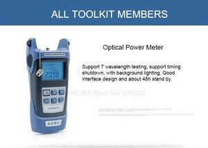 Image 2 - 6 In 1 Fiber Optic FTTH Tool Kit Optische Faser Cleaver FC 6S Miller der Zange Stripper Optische Power Meter 1mW VFL 1mW 5KM