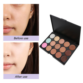 15 Colors Face Makeup Concealer Palette Face Makeup Foundation Contour Cream Kit Eyeshadow Primer Bronzer Highlighter