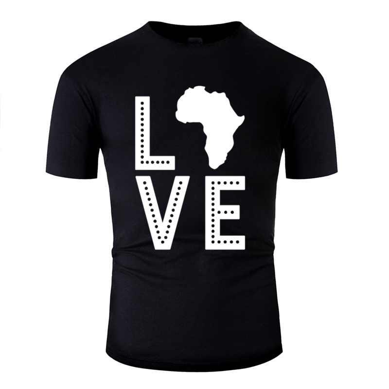 CUSTOM Hipster ทวีปแอฟริกา Love เสื้อยืดชายหญิงรอบคอผู้ชาย Gents ขนาด XXXL 4XL 5XL POP TOP TEE