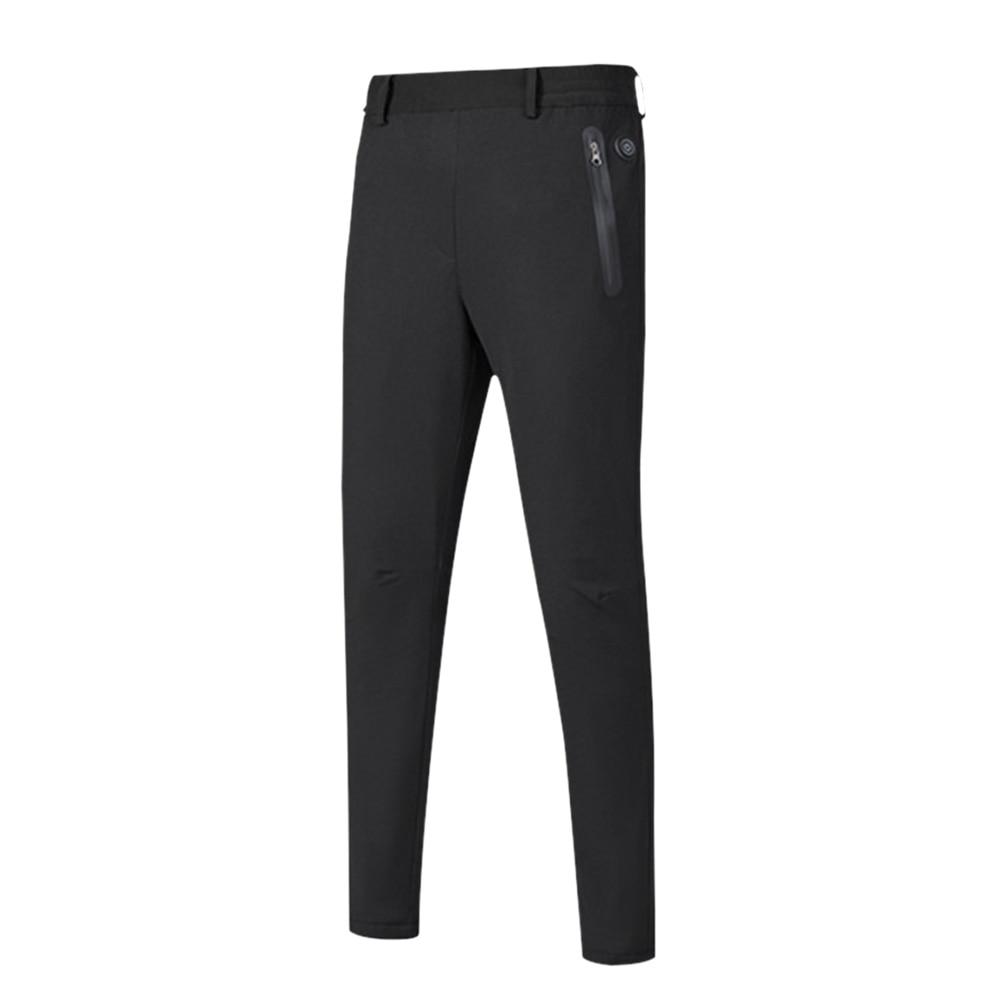 Men Women Heated Pants Solid Lightweight Fishing Waterproof Windproof Nylon Washable Warm Outdoor Hiking USB Electric Winter
