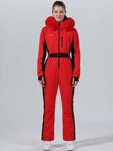 חורף סקי חליפת נשים חורף מעיל נשי מעיל סנובורד סקי ספורט חליפת סנובורד סקי סרבל חם
