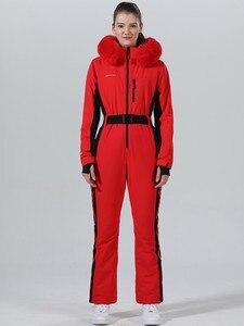 Image 1 - חורף סקי חליפת נשים חורף מעיל נשי מעיל סנובורד סקי ספורט חליפת סנובורד סקי סרבל חם