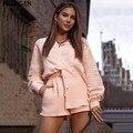 NCLAGEN Einreiher Frauen Casual Freund Hemd Geraffte Hohe Taille Breite Bein Shorts Damen Street Fashion Komfort 2 PCs Set