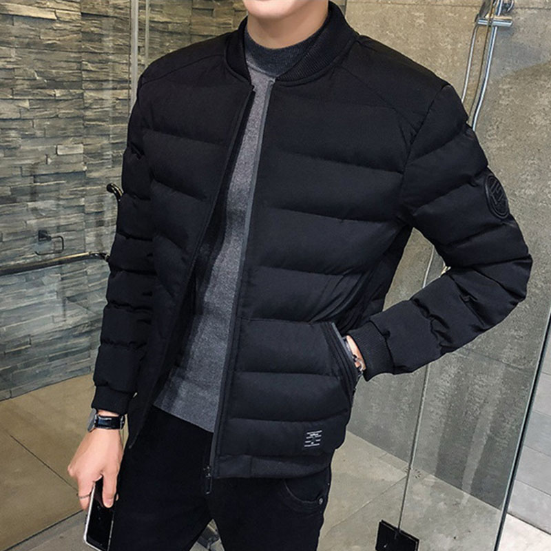 2019 North Winter Bomber Jacket Men Korean Youth Face Fashion Padded Warm Parka Fashion Warm Coat Plus Size 4XL Streetwear