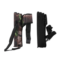 2 Pieces Arrow Back Quiver 3 Tubes Archery Bow Holder Bag Side Waist Belt for Outdoor Hunting