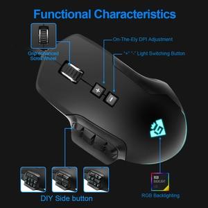 Image 3 - Rocketek USB RGB السلكية الألعاب ماوس 24000 ديسيبل متوحد الخواص 16 أزرار الليزر للبرمجة لعبة الفئران الخلفية مريح لأجهزة الكمبيوتر المحمول الكمبيوتر