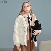 Artka 2020 Зимний новый женский пуховик модный поддельный комплект