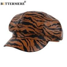Hats Beret Newsboy-Cap Autumn Vintage Octagonal-Cap Women Korean Stripe for Zebra Winter