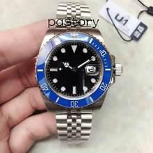 U1 relógio de luxo masculino relógio automático à prova dwaterproof água relógio mecânico aço inoxidável cristal safira relógio de pulso automático