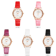 цена на Women Watches Fashion minimalism Bracelet Watch Woman  Leather Rhinestone Analog Quartz Watch Female Clock