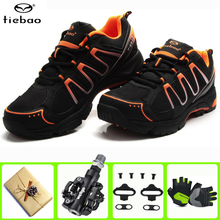 цена на Tiebao MTB Road Cycling Shoes Men Sport Bicycle Self-Locking Professional Racing Mountain Bike zapatillas ciclismo mtb Shoes