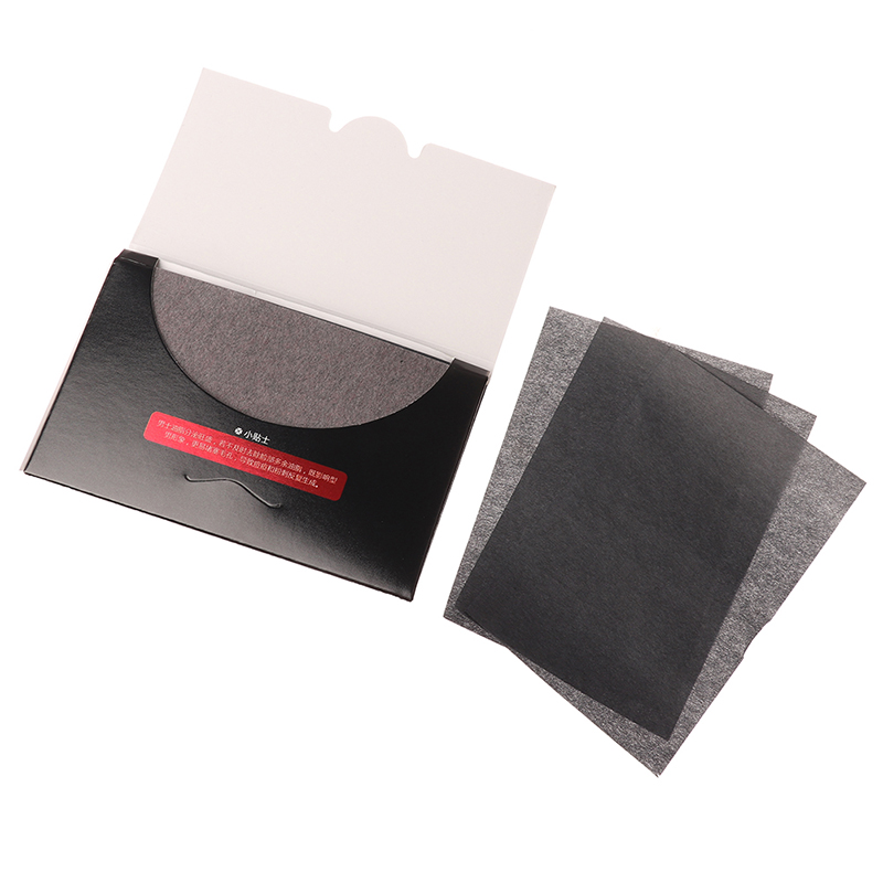 New 80 Sheets Bamboo Charcoal Flattening Out Facial Tissue Oil Absorbing Face Paper Wipes Flattening Out For Face Blotting Paper