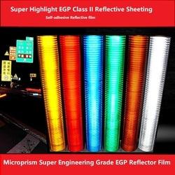 Tráfico de carretera de alta resistencia autoadhesivo microprisma Super ingeniería grado EGP Reflector película PET Clase II lámina reflectante