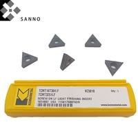 Frete grátis TCMT16T304LF KC5010/TPMT090204LF KC5010 CNC pastilhas de corte de carboneto de dicas para o aço endurecido/titanium liga etc|Ferr. torneam.| |  -