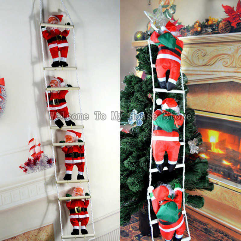 2019 Christmas Christmas Pendant Ladder Christmas Santa Claus Doll Tree New Year Decorations Drop Ornaments