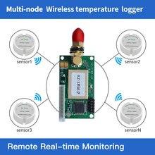 Chuyền 868/915 Mhz Lạnh Dây chuyền không Dây nhiệt độ dữ liệu logger 433 Mhz nhiệt độ cảm biến không dây RS232/TTL audio 2 đầu thu