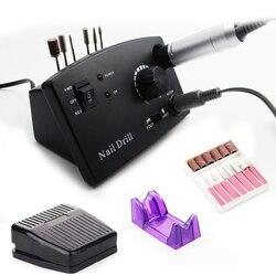 Электрическая маникюрная дрель, 3 цвета, 35000 об/мин, аксессуары с фрезами, электрическая пилка для ногтей