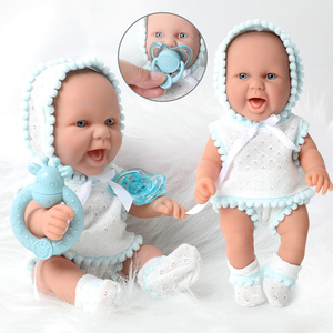 26CM bebe lifelike reborn doll 10 inch waterproof silicone simulation Realistic newborn dolls Hand bell clothes set for toy kids